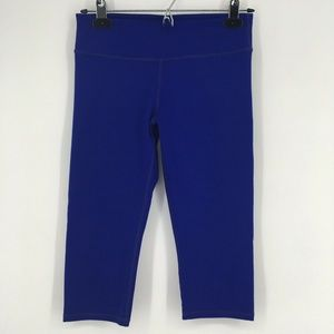 Fabletics Womens Pants Solid Blue Knee Length Crop